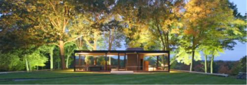 Eigen woning Philip Johnson (New Canaan, 1949)