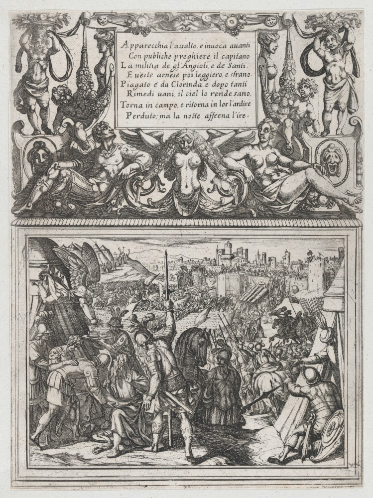 Plate 11- Illustration to Canto XI, from Torquato Tasso's 'Gerusalemme liberata III' MET DP865129